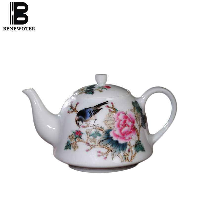 200cc Chinese Style Porcelain Handgrip Teapot Art Drinkware Hand Painted Flower Bird Pattern Home Coffee Milk Pot Tea Kettles200cc Chinese Style Porcelain Handgrip Teapot Art Drinkware Hand Painted Flower Bird Pattern Home Coffee Milk Pot Tea Kettles