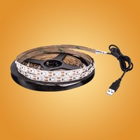DC 5V LED Strip USB Cable Power Flexible Light Lamp 50CM 1M 2M 3M 4M 5M SMD 2835 Mini 3Key Desk Decor TV Background Lighting 4