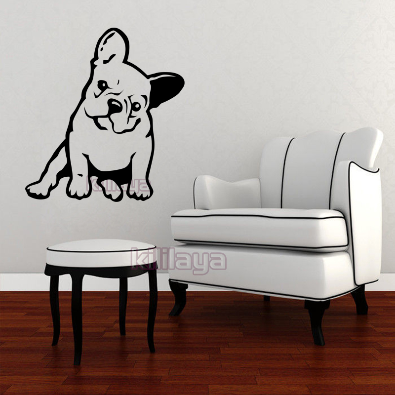 French Bulldog Melancholy Dog Pet Vinyl Wall Sticker Removable Wall Decals Wallpaper for Living Room Kids Room Home Decor -in Wall Stickers from Home ... & French Bulldog Melancholy Dog Pet Vinyl Wall Sticker Removable Wall ...