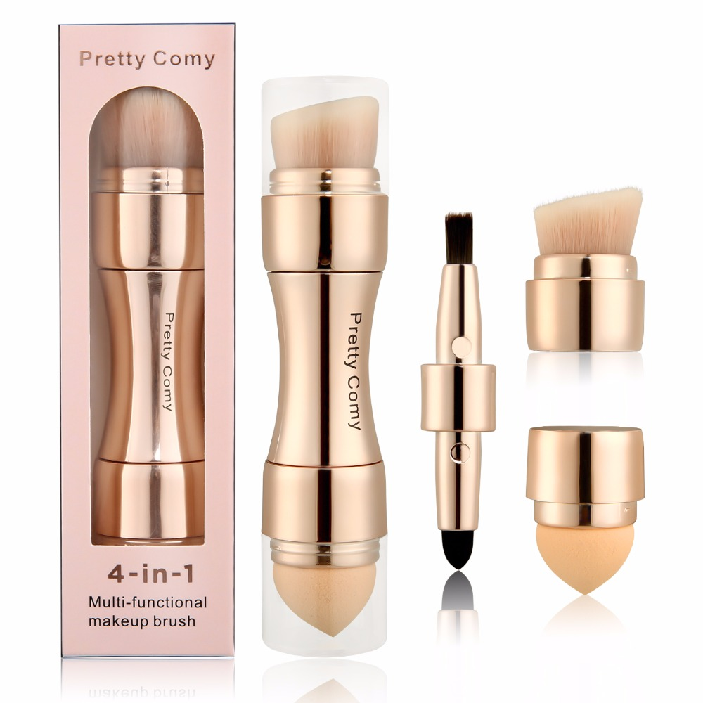 4 In 1 Makeup Brushes Foundation Eyebrow Shadow Eyeliner Blush Powder Brush Cosmetic Concealer Professional Maquiagem