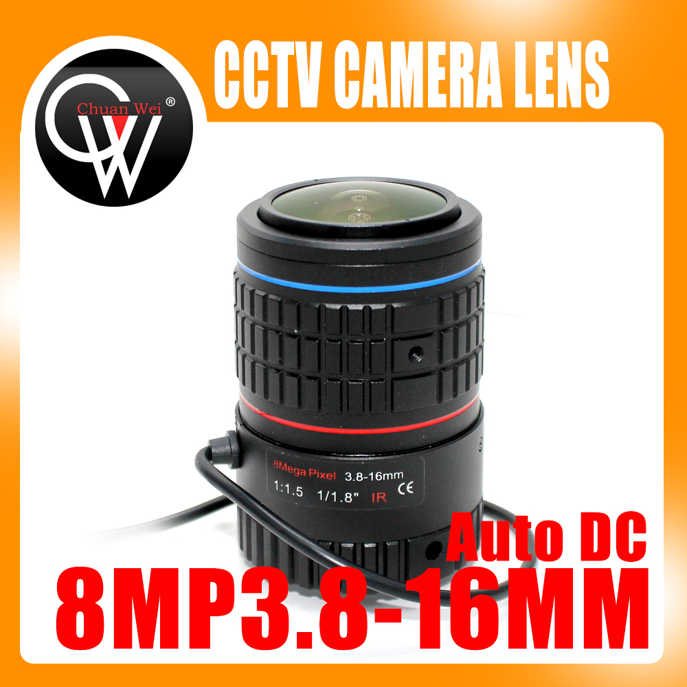 4K Lens 8Megapixel Varifocal CCTV 1/1.8 inch 3.8-16mm CS Mount DC IRIS For CCTV SONY IMX226/178 Box Camera/4K Camera 8megapixel varifocal cctv 4k lens 1 1 8 inch 3 6 10mm cs mount dc iris for sony imx178 imx274 box camera 4k camera free shipping