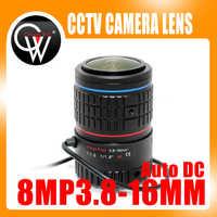 4K Lens 8Megapixel Varifocal CCTV 1/1.8 inch 3.8-16mm CS Mount DC IRIS For CCTV SONY IMX226/178 Box Camera/4K Camera