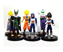 Dragon Ball Z DBZ 5 inch Songukou Vegeta Trunks Piccolo Cell Action Figure 6PCS/SET