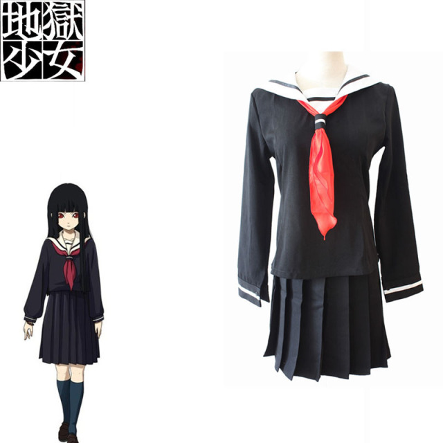 Enfer Fille Cosplay Ai Enma Costume Jigoku Shoujo Japonais Anime