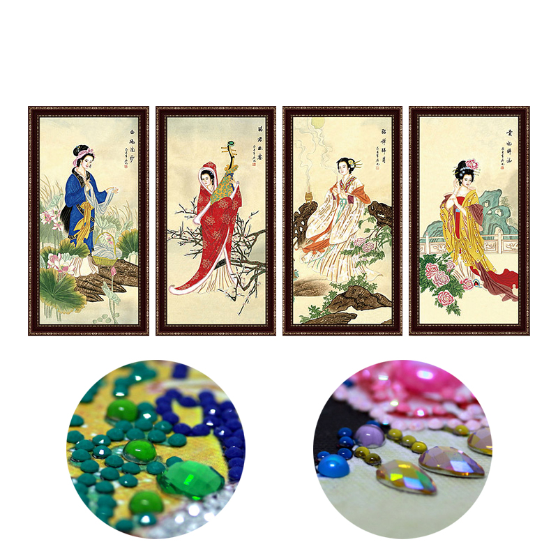 diamond painting special shaped diamond embroidery diy 5d diamond mosaic pattern broderie diamant chinese 4 beauty