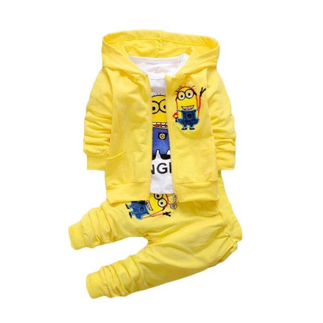 c5ff1e79b 2017 Boys Clothing Set Cotton Minion Clothing Sets Unisex Sport suit ...