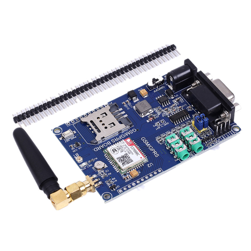 SIM800C Development Board Module Support GSM GPRS 3.3/5V TTL Level Control DC 6-24V For Arduino 51 MCU STM32 ESD Protection Chip