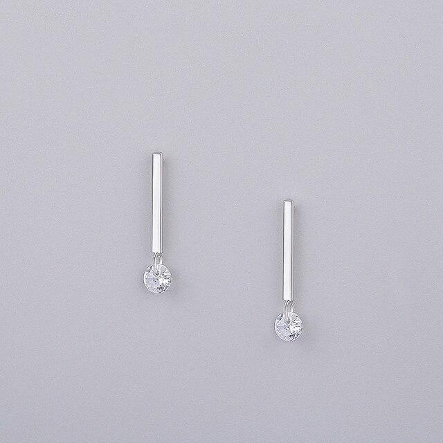 INZATT Classic 925 Sterling Silver Crystal Stud Earrings Geometric Stick Bar For Women Birthday party Fashion.jpg 640x640 - INZATT Classic 925 Sterling Silver Crystal Stud Earrings Geometric Stick Bar For Women Birthday party Fashion Jewelry Pendientes