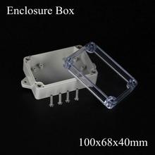 100*68*40 мм IP66 ABS Водонепроницаемый электронный корпус проект коробка Распределения переключатель junction outlet case Clear крышка