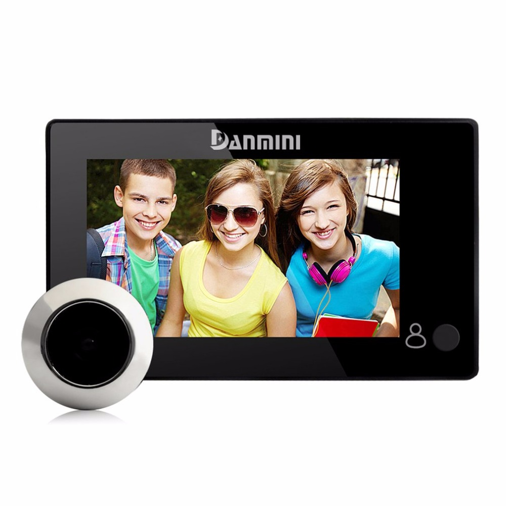 Danmini YB-43CH 4.3 Inch Electronic Cat Eye Night Vision Video Camera Doorbell No Disturb Peephole Viewer