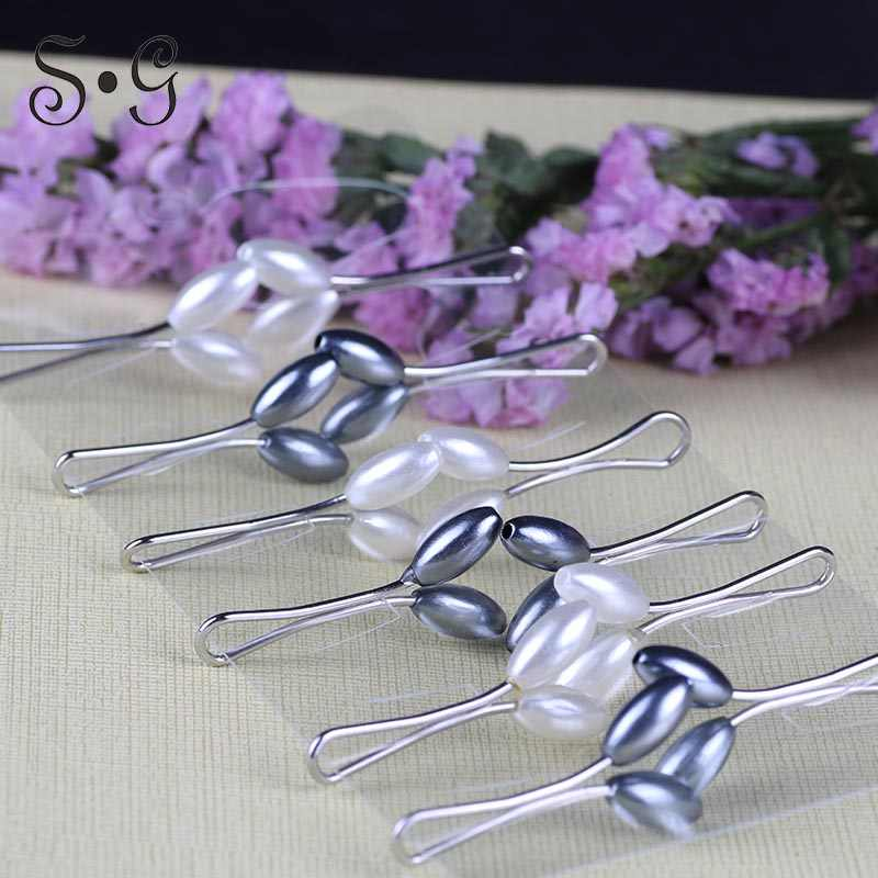 12 Pcs Muslim Hijab clip Trendy Dual Fashion Brooches & Scarf Clip Alloy Brooch Garment Accessories Women Ladies Brooches
