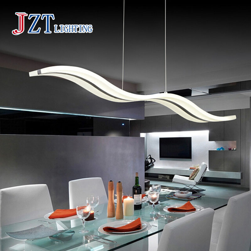 T Modern Creative Lights Simple Acrylic Light Fish line Wave LED Chip Light for the bar Restaurant Coffee Shop FREE SHIPPING!!