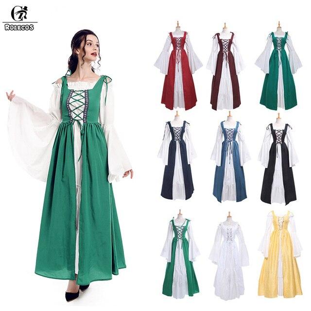 ROLECOS Women Renaissance Victorian Medieval Gothic Long Dresses For ...
