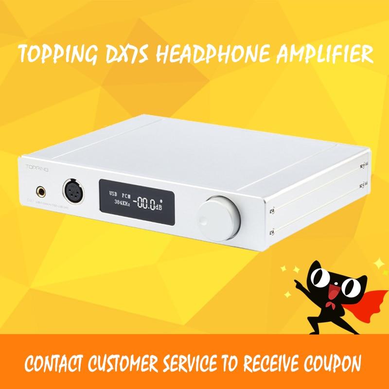 TOPPING DX7s Decoder ES9038Q2M HIFI Headphone Amplifier Balanced DAC Audio Amplifiers XMOS XU208 AMP 32bit USB Decodificado new topping nx4 dsd xmos xu208 chip dac es9038q2m chip portable usb dac dsd decoder amplifier headphone amp amplifier