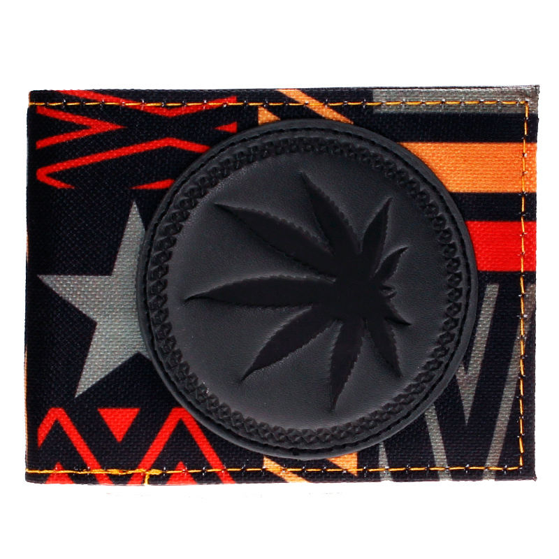Leaf Tribal Print Bifold Wallet DFT-1471 mens batman logo badge bifold wallet dft 1327