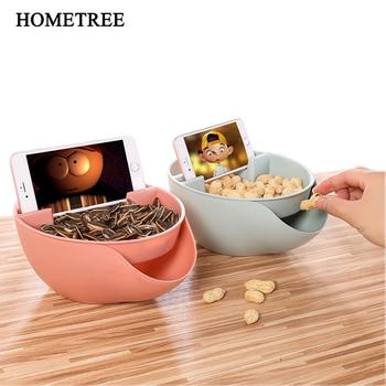 HOMETREE, Pajita DE TRIGO creativa para la salud, cuenco de fruta de doble capa, plato de fruta para el hogar, colorida cesta de dulces, plato de fruta seca H254