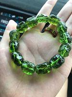Quality Goods Czekh Meteorite Bracelet Original Shisuihang Hand String Bracelet Can Exorcise Evil Spirits Green Meteorite