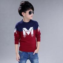 Suéter de algodón con cuello redondo para niños, ropa infantil de invierno
