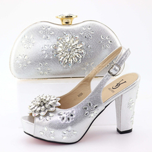 Buy silver shoes matching clutch bag and get free shipping on ... 2d5eeb1c8c52