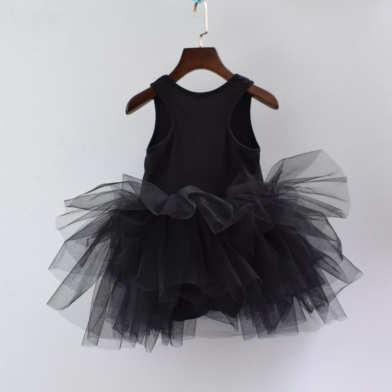Halloween Black Spider Girl Red Bodysuit Zebra Pettskirt Baby Dress Set NB-12M