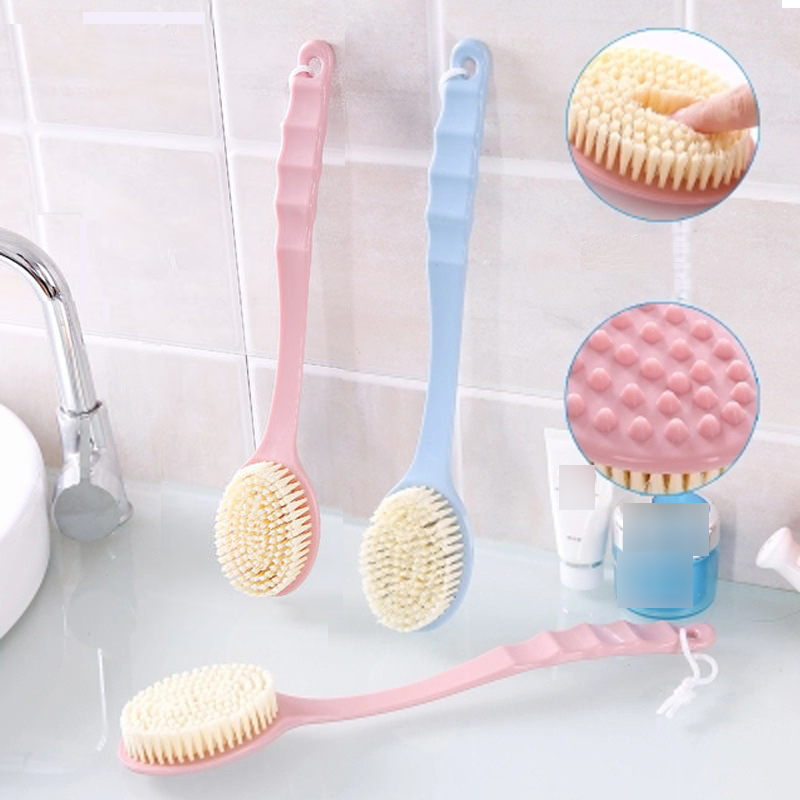 Bath Brush Long Handle Scrubber Skin Massage Brush Bath Body Brush For Back Exfoliation Brushes Bathroom Accessories Tools Spa