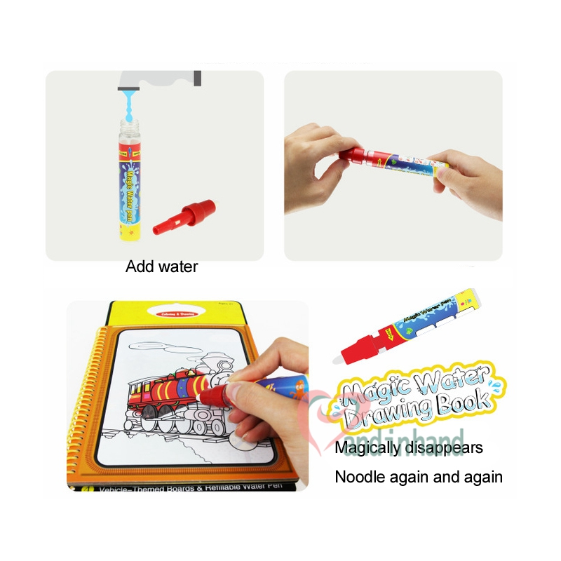 drawing toys magic water coloring book for kids painting learning education aquadoodle pen painting board juguetes for children in drawing toys from toys - Water Coloring Book