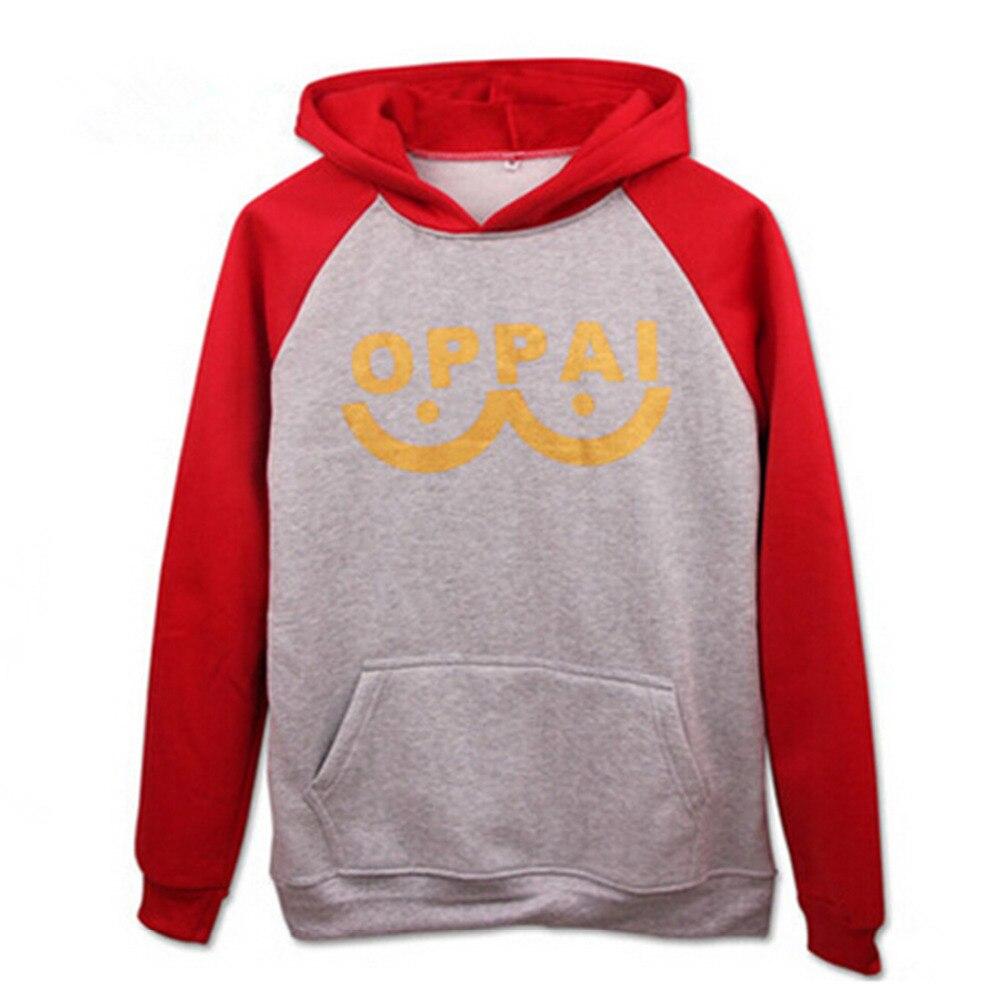 One Punch Man Hoodie Saitama Oppai Hoodie Sweatshirt Cosplay Costume Size S M L XL XXL