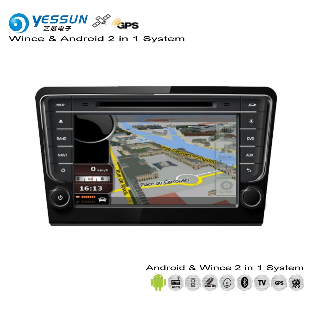 YESSUN For VW Bora For Skoda Rapid For Seat Toledo MK4 - Car Android Radio CD DVD Player GPS Navi Navigation Audio Video Stereo car dvd gps android 8 1 player 2din radio universal wifi gps navigation audio for skoda octavia fabia rapid yeti superb vw seat