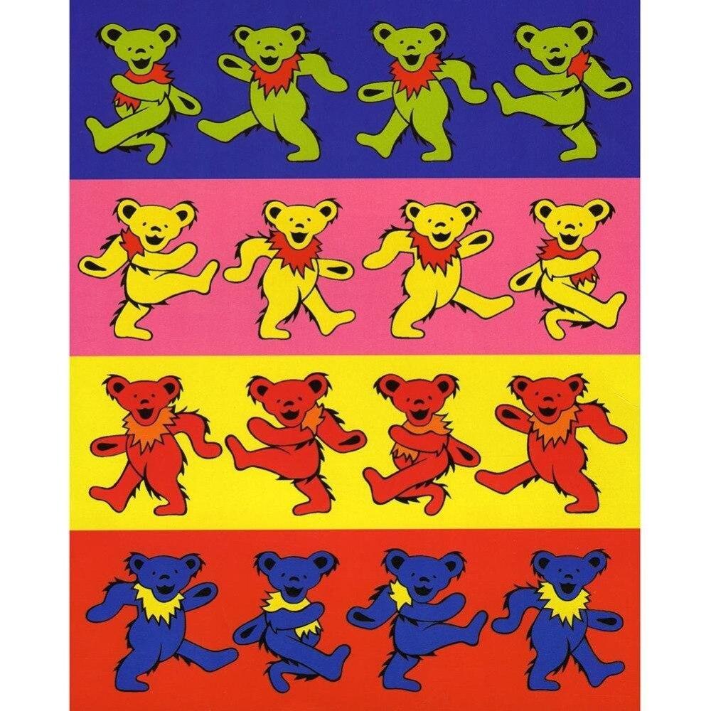 Pop Art Dance Bear Grateful Dead Vintage Retro Canvas Painting Alloy ...