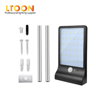 [LTOON]PIR motion sensor Solar Street light 1 modes Outdoor wall lamp Waterproof Energy Saving Yard Path Home Garde