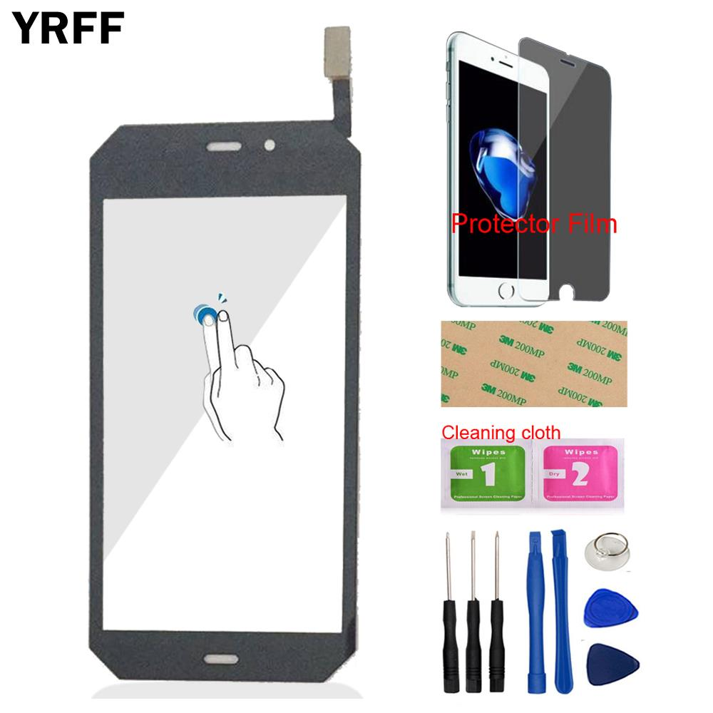 4.7'' Mobile Phone Touch Panel Front Touch Screen Digitizer Panel Glass For Cat S50 S50 Sensor Tools + Protector Film Adhesive