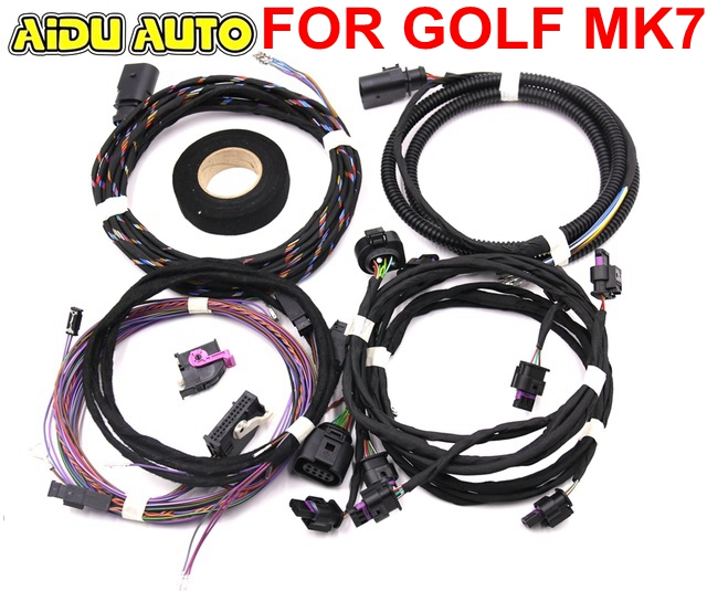 Auto Parking Front and Rear 8K 12K PLA PDC OPS Install Harness cable wire For VW Golf 7 MK7 VII park pilot parking front and rear 8 sensors update 8k pdc ops for skoda mqb octavia