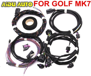 цена на Auto Parking Front and Rear 8K 12K PLA PDC OPS Install Harness cable wire For VW Golf 7 MK7 VII