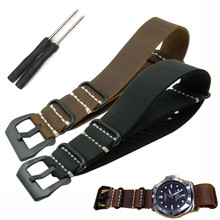 New replacement for Garmin Fenix 3 Watch Band Strap crazy horse Genuine Leather nato + screwdriver