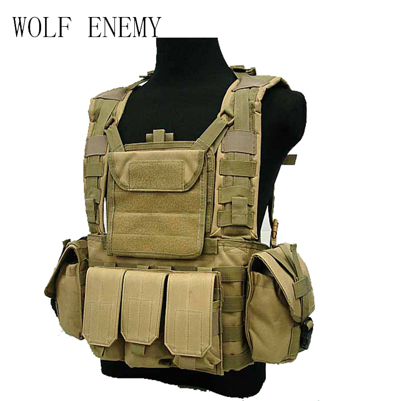 Outdoor Tactical Airsoft Molle Canteen Hydration Combat RRV Water <font><b>Bag</b></font> Vest Sand Black <font><b>MC</b></font> Olive Drab image