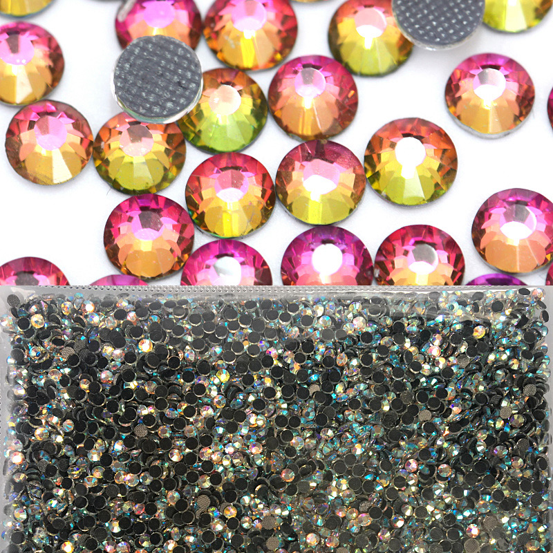 Rainbow Iron On Hot Fix Rhinestones ss6 ss10 ss16 ss20 ss30 Wholesale Flatback DMC Hotfix Rhinestone