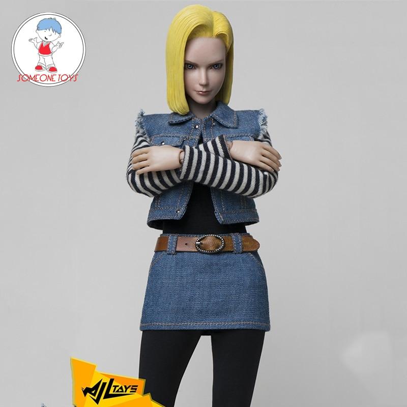 1/6 Dragon ball Android 18 лазурит фигурка Косплей Аниме подвижные швы 12 дюймов фигурка куклы коллекции