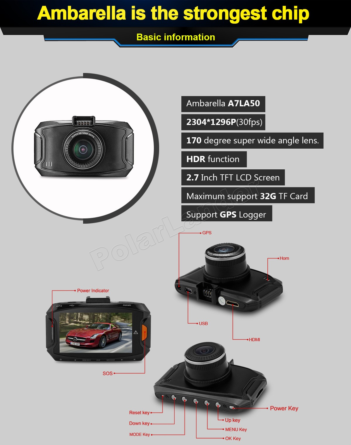 Search For Flights Gs90a Car Dvr Camera Full Hd 1080p 2.7 Inch Dash Cam Camcorder Without Gps Module G-sensor 170 Degree Video Recorder Dvr/dash Camera
