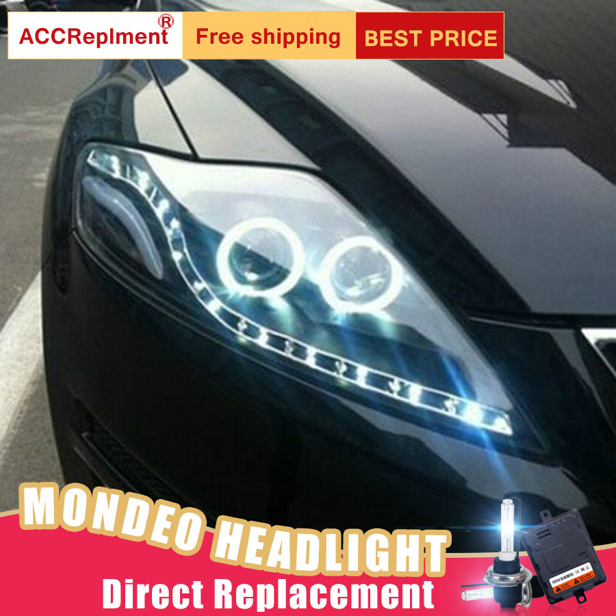 2Pcs LED Headlights For Ford Mondeo 2007-2012 led car lights Angel eyes xenon HID KIT Fog lights LED Daytime Running Lights