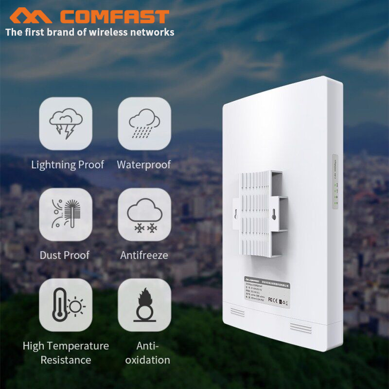 CF WA350 5Ghz 802.11ac 1300Mbps high power outdoor AP 5G+2.4G Wi fi Range Wifi repeater Gigabit Wireless Waterproof Wifi Router