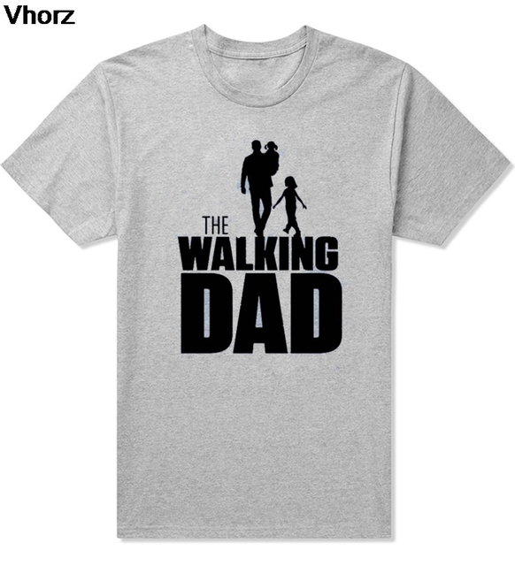 Casual The WALKING Dad Party T Shirt Novelty Funny Tshirt Mens Clothing Short Sleeve Camisetas T-shirt