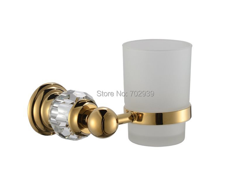 FREE SHIPPING new design 24k GOLD Crystal single cup and tumbler holder