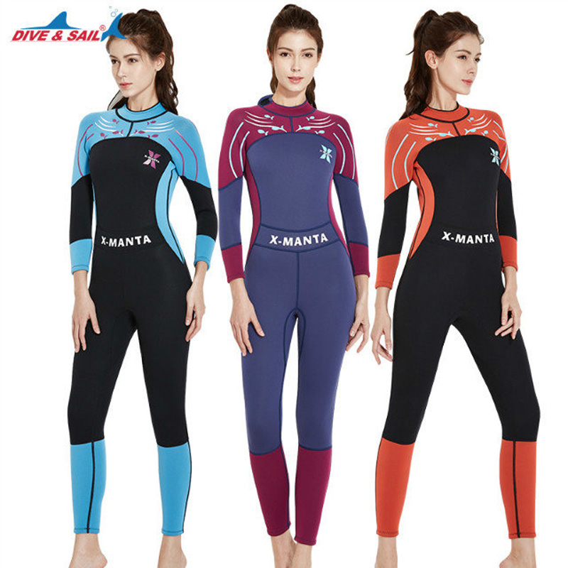 bba8e62a18 Mens Womens Wetsuits 3mm Premium Neoprene SCR Surfing Swimming Full Back  Zipper Full Body Diving Suit Flatlock Zip Full Wet Suit-in Wetsuit from  Sports ...