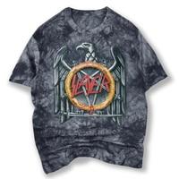 Yeni varış batik erkek gri t-shirt baskılı slayer metal rock band tee gömlek erkekler s-xxl marka clothing 1733