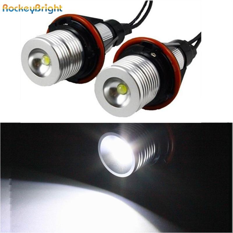 Rockeybright xenon white E39 led angel eyes halo light bulb headlight for bmw e39 e83 x3