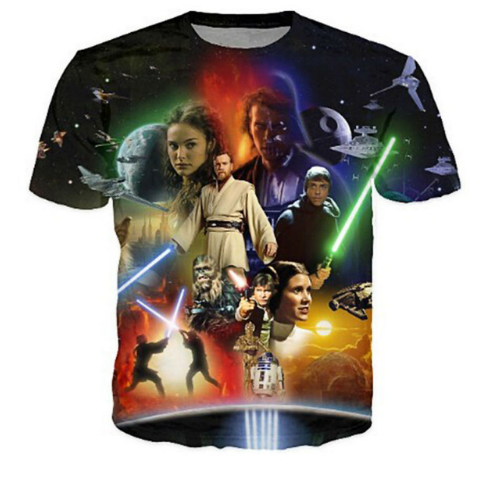 2018 High quality Cool T-shirt Men Women hot 3d Print Star Wars warrior shirt Short Summer Tops Tee Hot style