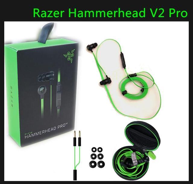 2016 Новый Razer Hammerhead V2 Pro Наушники С Микрофоном В Ухе Игровой Гарнитуры Шумоизоляция Стерео dota2 ЛОЛ и т. д.