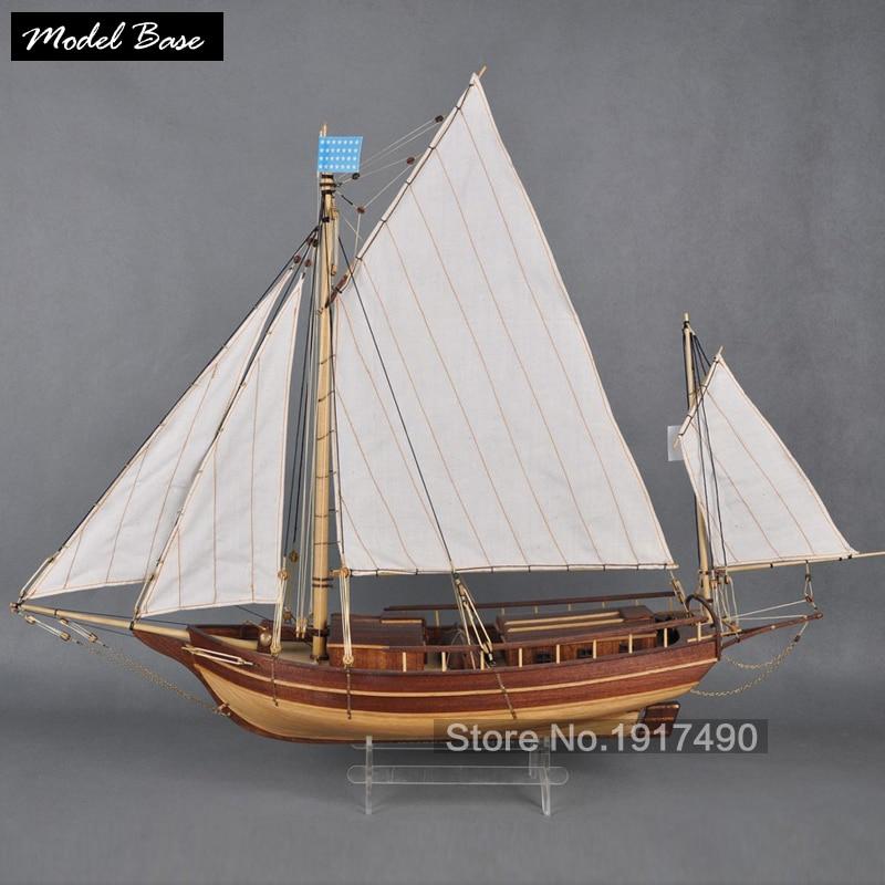 Model Boats Wooden Boston The Waves Of The Wooden Sailing Ship Model Kit Hobby Diy Train Wooden Ship Models Kits Boston spray No