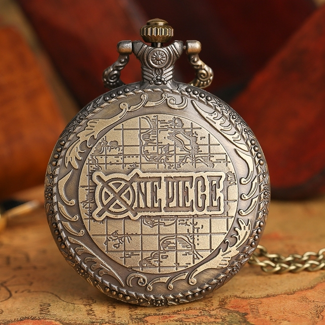 Anime One Piece Pocket Watch Men Women Necklace Pendant