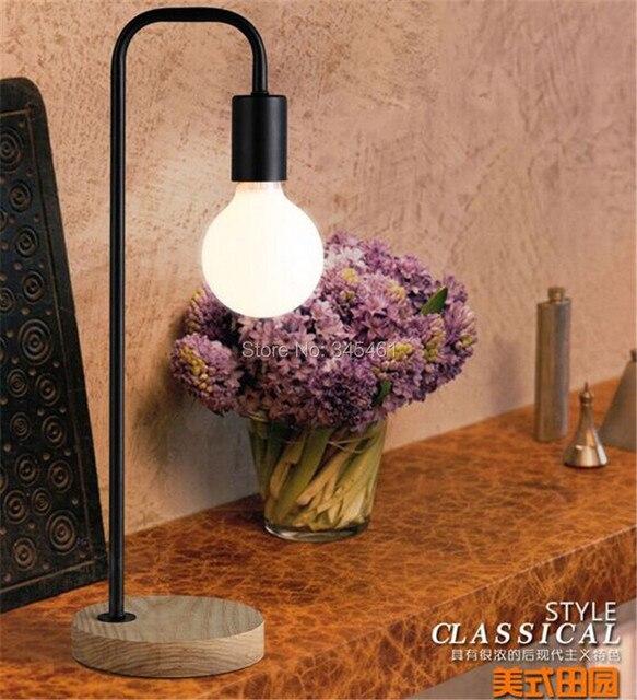 Modern Led Table Light, Solid Wood Base Design, Bedside Led Desk Light Lamp 220v, Black/White/Golden, For Bedroom/Office